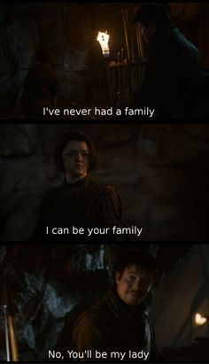 SHIP IT SHIP IT SO HARD. Oh Lord. *gross sobbing at the beauty of gendry and arya*