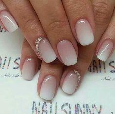 Beautiful wedding nails!