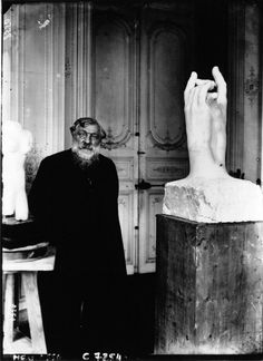 """Auguste Rodin, famous for his sculpture """"The Thinker"""". Auguste Rodin, Musée Rodin, Camille Claudel, Modern Sculpture, Sculpture Art, Artist Art, Artist At Work, Rodin Artist, Famous Artists"""