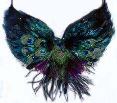 Stammes-Peacock Feather Bauchtanz BH custom Made von sajeeladesign