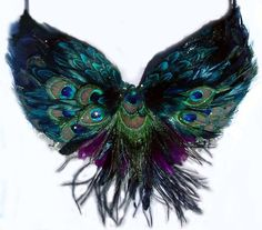 Tribal Peacock Feather Belly Dance BRA custom by sajeeladesign