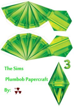 The Sims Plumbob Papercraft Template Designed by killero Hit the download button for printable version