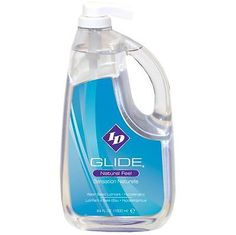 Lubricants and Lotions: Id Glide Natural Feel Lubricant - 64 Fl Oz Pump Bottle Water Based Lube BUY IT NOW ONLY: $62.86