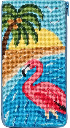 Eyeglass Case - Flamingo - Needlepoint Kit                                                                                                                                                     More