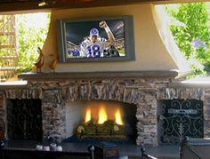 Love this outdoor living area.