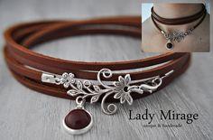 Choker & Halskorsetts - Frühlingstraum - Echtleder Choker - Silber - ein Designerstück von LadyMirage bei DaWanda