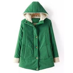 Preppy Style Hooded Lamb Wool Splicing Solid Color Long Sleeve Coat For Women
