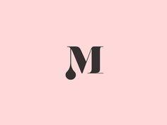 Dribbble - Melodrama boutique brandmark by Justina Valuzyte