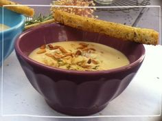 Sopa de castanha com croutons de alecrim /substituir a manteiga e nata por analogo vegetal/