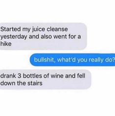 The 21 Best Memes About Juice Cleanses - 🍀ViraLuck Funny Love, Really Funny, The Funny, Funny Quotes, Funny Memes, Hilarious, Finals Week Humor, Funny Christmas Images, Funny Texts From Parents