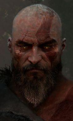 Video game, Kratos, God of War, art, 480x800 wallpaper