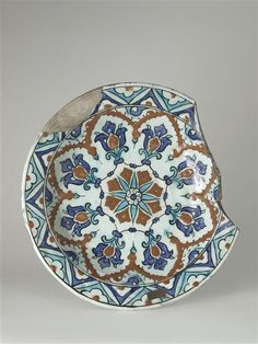 16th Century Turkish Iznik Polychrome Plate