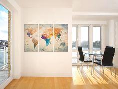 Das Kork-Leinwandbild bilder eine originelle Wanddekoration, die es Ihnen ermöglichen wird, alle wundervollen Reiseerlebnisse zu verewigen. Mithilfe von Reißzwecken kann mann beliebige Punkte auf...