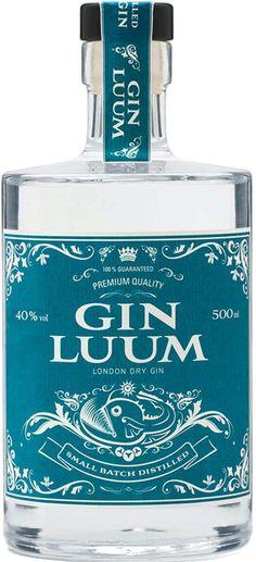 Gin von Gin Luum in der 0,5l Flasche mit 40% Vol. Alc.