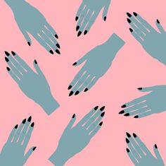 Vampy Hands Art Print by Grunge Kitten