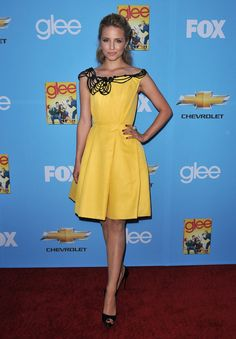 "Dianna Agron in Carolina Herrera (2010 ""Glee"" Season 2 premiere)"