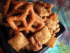 Cripsy Caramelized Chex Mix
