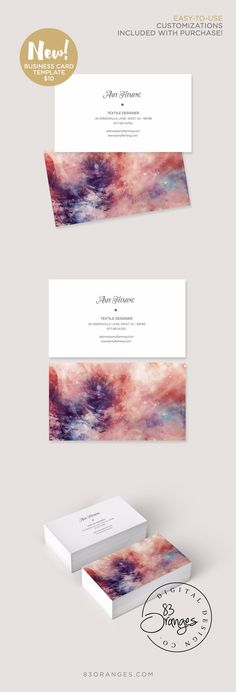 Modern dye paint style business card now available for #download in my shop! Easy-to-use with text edits included with your purchase! #digital #businesscardtemplate #businesscard #branding #stationary #design #graphicdesigner
