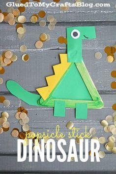 Popsicle Stick Dinosaur - Kid Craft More