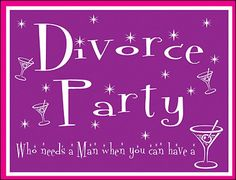 Divorce party ... invitation card