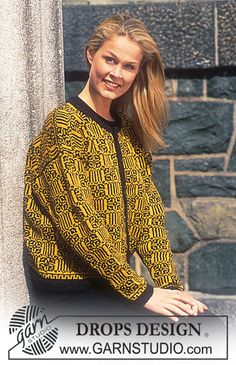DROPS 54-1 - DROPS Silke-Tweed Cardigan with Square Patterns. - Free pattern by DROPS Design