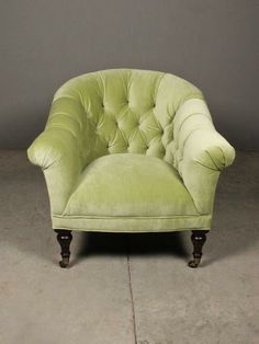 kirby chair ++ redinfred - like a faded chartreuse