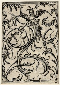 Full: Front Grotesque ornament Engraving © The Trustees of the British Museum Chiaroscuro, Acanthus, Medieval Art, Antique Prints, British Museum, Graphic Illustration, Light In The Dark, Art Reference, Art Decor