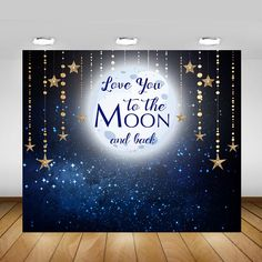 Love You To The Moon Backdrop Birthday Baby Shower Baby Shower Photos, Boy Baby Shower Themes, Baby Shower Invites For Girl, Baby Shower Decorations, Baby Boy Shower, 2yr Old Birthday, Girl First Birthday, Birthday Ideas, Wedding Candy Table