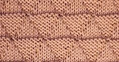 Thel pattern creates a textured fabric made up of knit triangles and purl pyramids on one side.