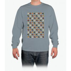 Masked Unicorns Pattern Long Sleeve T-Shirt