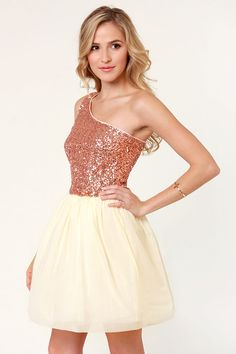 Fancy Rose Gold Dress My Party