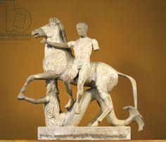 Locri Epizefiri. Dioscuri group from the Ionic Temple of Marasà (Locri Epizefiri. Il gruppo dei Dioscuri dal Tempio Ionico di Marasà), 420, 5th Century b.C, marble
