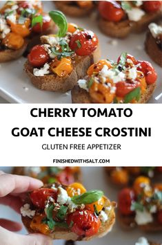 I'm OBSESSED with these Cherry Tomato Goat Cheese Crostini drizzled in balsamic! I'm OBSESSED with these Cherry Tomato Goat Cheese Crostini drizzled in balsamic!
