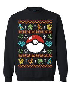 Pokemon Ball Ugly Sweater gift sweatshirt Tshirt unisex adult size S-3XL //Price: $22.99 //