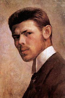Self Portrait 1887 - János Vaszary - (Hungarian: People Art, Lovers Art, Art Nouveau Illustration, Painter, Portraiture, Self Portrait Artists, Male Portrait, Male Art, Portrait