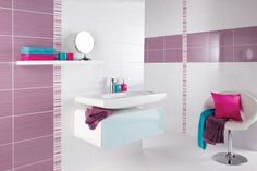 Brighton Lilac gloss wall tile by British Ceramic Tiles (UK). White Wall Tiles, White Bathroom Tiles, Wall And Floor Tiles, Tiles Uk, Girl House, Bathroom Inspiration, Bathroom Ideas, Amazing Bathrooms, Flooring