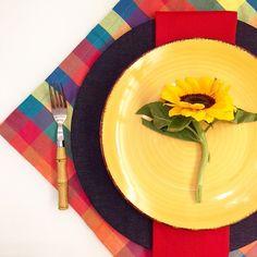 Aposte em cores quentes xadrez jeans e Girassol para uma decor de #festajunina #dicalardocecasa #lardocecasa #lardocemesa #semanamesahits_vivasaojoao #saojoaolardocecasa #arraiarlardocecasa #saojoao #decor