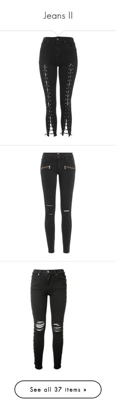 """Jeans II"" by veiinticuatro ❤ liked on Polyvore featuring jeans, black, high rise skinny jeans, high rise jeans, button fly jeans, stretch skinny jeans, rock and roll jeans, pants, bottoms and calça"