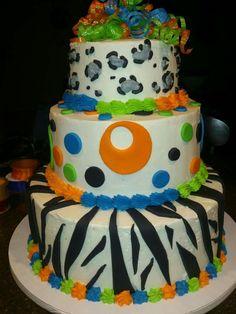 Birthday cake zebra stripe