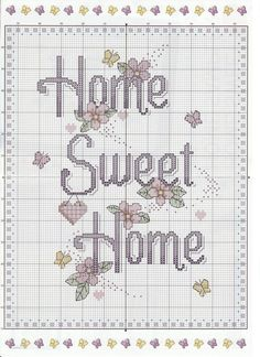 Home sweet hom punto croce schemi 46 Super Ideas Cross Stitch House, Cross Stitch Kitchen, Cross Stitch Samplers, Counted Cross Stitch Patterns, Cross Stitch Charts, Cross Stitch Designs, Cross Stitching, Cross Stitch Embroidery, Embroidery Patterns