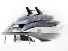Sustainable yacht concept. Creative direction by Alfred van Elk for Feadship. Design by de Voogt Naval Architects.