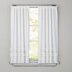 63 White Ruffle Curtain