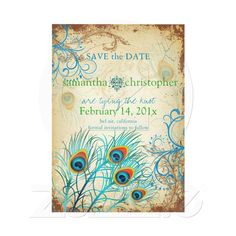 Peacock save the date