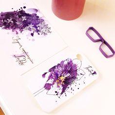Une coque, une carte personnalisées : une super idée ! #idée #cadeau #plaisir #violet #fleur #lilas #iris