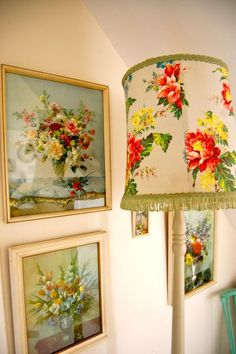 vintage floral prints and lampshade | time to dig through grandma's attic!