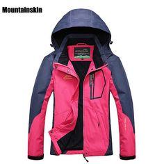 Women Outdoor Softshell Jackets Spring Autumn Waterproof Hiking Coats Windbreaker Thermal Sports Jackets For Camping Ski RW035