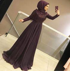 New years eve dresses Hijab Gown, Hijab Evening Dress, Hijab Dress Party, Evening Dresses, Abaya Fashion, Muslim Fashion, Modest Fashion, Fashion Dresses, Muslim Wedding Dresses