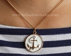 anchor necklace sailor anchor necklace Nautical by belindawen, $4.99