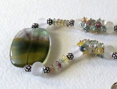 Necklace Made From Fluorite and Sterling Silver by Smokeylady54
