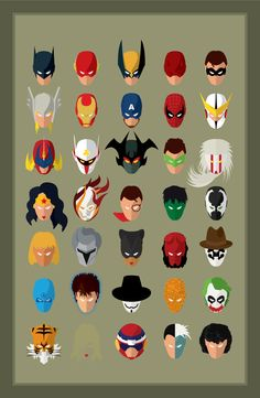 SuperHeroes by SPARKcreative (via Creattica) - I hope that all these super heroes help us to have a better 2013.